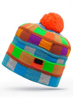 Купить оптом шапку разноцветного цвета в интернет магазине MTFORCE 6012Rz