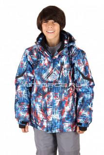 Купить оптом куртка горнолыжная подростковая для мальчика синего цвета 420-1S в интернет магазине MTFORCE.RU