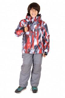 Купить оптом костюм горнолыжный  для мальчика красного  цвета 424Kr в интернет магазине MTFORCE.RU