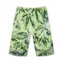Купить оптом спортивные шорты зеленого цвета 4272Z в интернет магазине MTFORCE.RU
