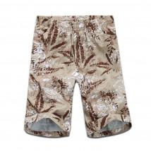 Купить оптом спортивные шорты бежевого цвета 4272B в интернет магазине MTFORCE.RU