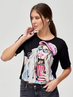 Компания производителя MTFORCE предлагает купить оптом футболки топы хлопок со стразами женские из Турции дешево по низким ценам! 4320Ch
