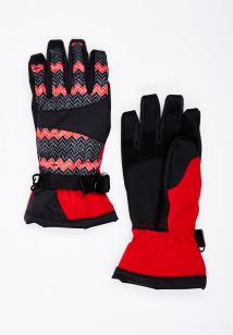 Горнолыжные перчатки женские зимние красного цвета купить оптом в интернет магазине MTFORCE 443Kr