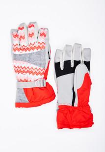 Горнолыжные перчатки женские зимние серого цвета купить оптом в интернет магазине MTFORCE 443Sr
