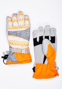 Горнолыжные перчатки женские зимние оранжевого цвета купить оптом в интернет магазине MTFORCE 443O