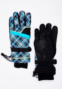 Горнолыжные перчатки женские зимние синего цвета купить оптом в интернет магазине MTFORCE 448S