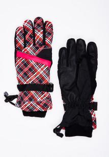 Горнолыжные перчатки женские зимние красного цвета купить оптом в интернет магазине MTFORCE 448Kr