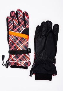 Горнолыжные перчатки женские зимние оранжевого цвета купить оптом в интернет магазине MTFORCE 448O