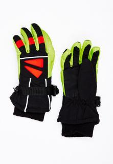 Горнолыжные перчатки подростковые для мальчика зимние салатового цвета купить оптом в интернет магазине MTFORCE 449Sl