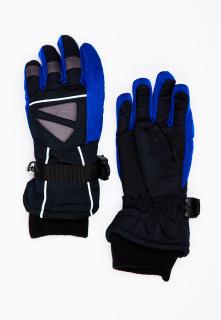 Горнолыжные перчатки подростковые для мальчика зимние синего цвета купить оптом в интернет магазине MTFORCE 449S
