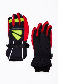 Горнолыжные перчатки подростковые для мальчика зимние красного цвета купить оптом в интернет магазине MTFORCE 449Kr