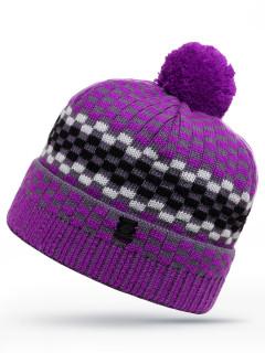 Купить оптом шапку фиолетового цвета в интернет магазине MTFORCE 6013F
