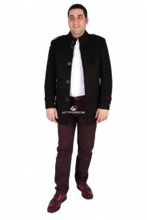 Купить оптом полупальто мужское черного цвета M32Ch в интернет магазине MTFORCE.RU