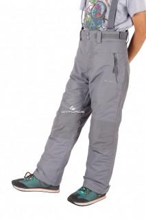 Купить оптом брюки горнолыжные подростковые серого цвета 502Sr в интернет магазине MTFORCE.RU