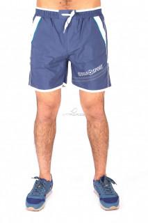 Купить оптом спортивные шорты голубого цвета 503Gl в интернет магазине MTFORCE.RU