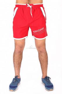 Купить оптом спортивные шорты красного цвета 503Kr в интернет магазине MTFORCE.RU