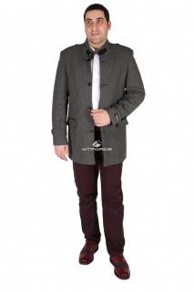 Купить оптом полупальто мужское серого цвета M32Sr в интернет магазине MTFORCE.RU