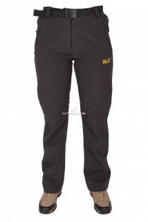 Купить оптом брюки виндстопер женские черного цвета  523Ch в интернет магазине MTFORCE.RU