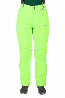 Купить оптом брюки горнолыжные женские салатового цвета 524Sl в интернет магазине MTFORCE.RU