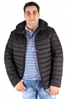 Купить оптом куртка мужская черного цвета 1618Ch в интернет магазине MTFORCE.RU