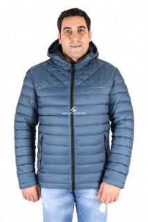 Купить оптом куртка мужская темно-синего цвета 1618TS в интернет магазине MTFORCE.RU