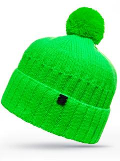 Купить оптом шапку зеленого цвета в интернет магазине MTFORCE 6019Z