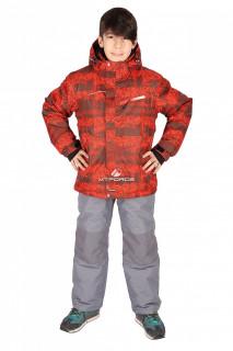 Купить оптом костюм горнолыжный  для мальчика оранжевого цвета 01773-1O в интернет магазине MTFORCE.RU