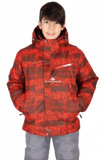 Купить оптом куртка горнолыжная подростковая для мальчика оранжевого цвета 545-1-1O в интернет магазине MTFORCE.RU