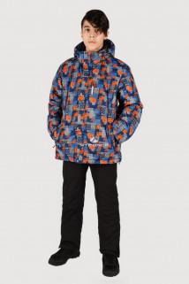 Купить оптом куртка горнолыжная подростковая для мальчика темно-синего цвета 546-1TS в интернет магазине MTFORCE.RU