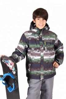 Купить оптом куртка горнолыжная подростковая для мальчика цвета хаки 546-1Kh в интернет магазине MTFORCE.RU