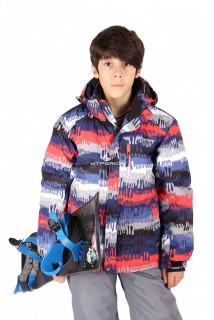 Купить оптом куртка горнолыжная подростковая для мальчика красного цвета 546-1Kr в интернет магазине MTFORCE.RU
