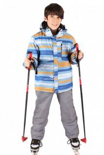 Купить оптом костюм горнолыжный  для мальчика серого цвета 547Sr в интернет магазине MTFORCE.RU
