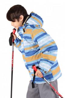 Купить оптом куртка горнолыжная подростковая для мальчика серого цвета 547-1Sr в интернет магазине MTFORCE.RU