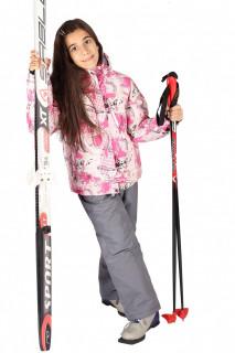 Купить оптом костюм горнолыжный  для девочки бежевого цвета 548B в интернет магазине MTFORCE.RU