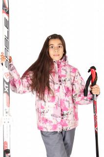 Купить оптом куртка горнолыжная подростковая для девочки салатового цвета 1549R в интернет магазине MTFORCE.RU