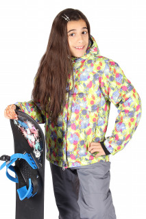 Купить оптом куртка горнолыжная подростковая для девочки желтого цвета 1549J в интернет магазине MTFORCE.RU