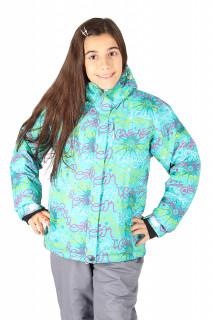 Купить оптом rуртка горнолыжная подростковая для девочки зеленого цвета 549-1Z в интернет магазине MTFORCE.RU