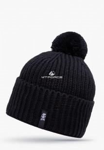 Купить оптом шапки зимние черного цвета 5521Ch  в интернет магазине MTFORCE.RU