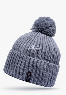 Купить оптом шапки зимние серого цвета 5521Sr  в интернет магазине MTFORCE.RU
