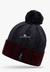 Купить оптом шапки зимние темно-серого цвета 5521TC  в интернет магазине MTFORCE.RU
