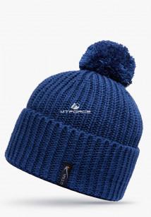 Купить оптом шапки зимние синего цвета 5521S  в интернет магазине MTFORCE.RU