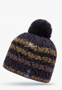 Купить оптом шапки зимние коричневого цвета 5522K в интернет магазине MTFORCE.RU