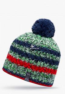 Купить оптом шапки зимние зеленого цвета 5522Z в интернет магазине MTFORCE.RU