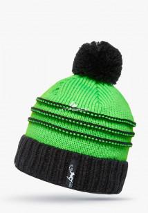 Купить оптом шапки зимние зеленого цвета 5541Z в интернет магазине MTFORCE.RU