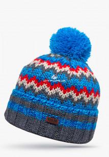 Купить оптом шапки зимние голубого цвета 5543Gl  в интернет магазине MTFORCE.RU