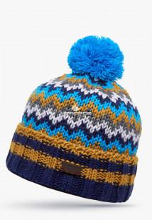 Купить оптом шапки зимние коричневого цвета 5543K в интернет магазине MTFORCE.RU