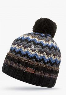 Купить оптом шапки зимние черного цвета 5543Ch в интернет магазине MTFORCE.RU