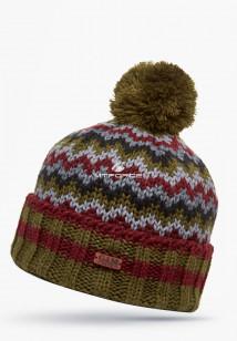 Купить оптом шапки зимние бордового цвета 5543Bo  в интернет магазине MTFORCE.RU