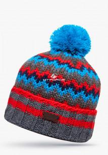 Купить оптом шапки зимние красного цвета 5543Kr  в интернет магазине MTFORCE.RU