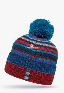 Купить оптом шапки зимние бордового цвета 5544Bo в интернет магазине MTFORCE.RU